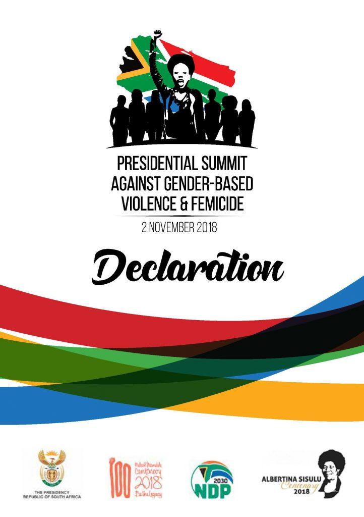 Presidential Summit Against Gender-Based Violence & Femicide